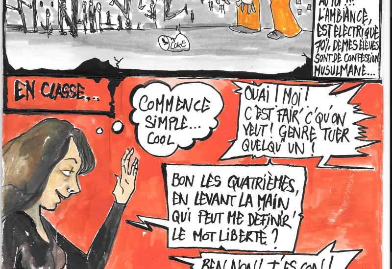 Dessin hommage à Charlie Hebdo fait par Céline Passerieu