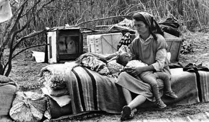 Oleg Litvin - Photo Homeless as a refugee -  Probably Spring / Summer 1993